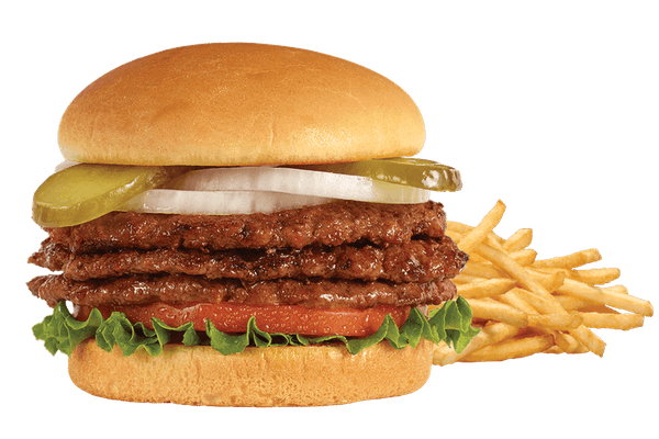 Triple Steakburger 'n Fries