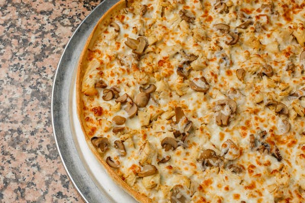 Chicken, Ranch & Mushroom Pizza