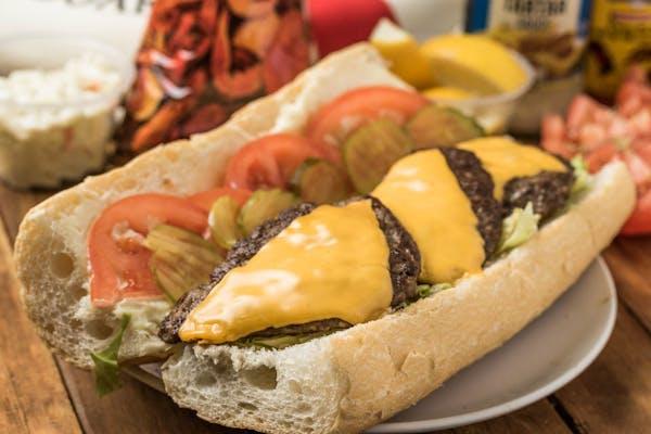 Cheeseburger Poboy