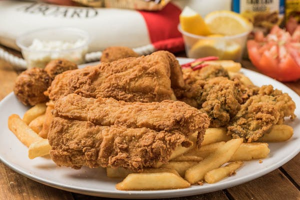 Fried Fish & Oyster Platter