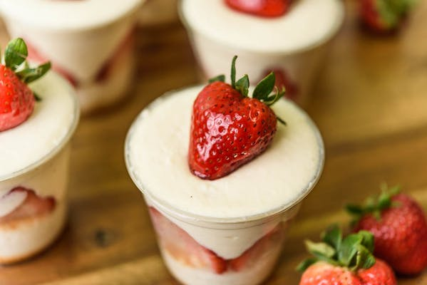 Strawberry Bavarian Cup