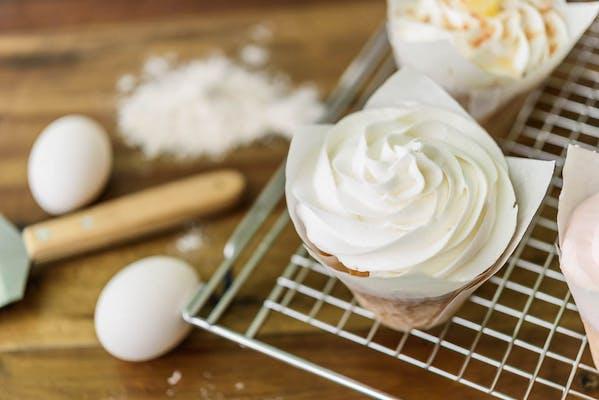White Buttercream Cupcake