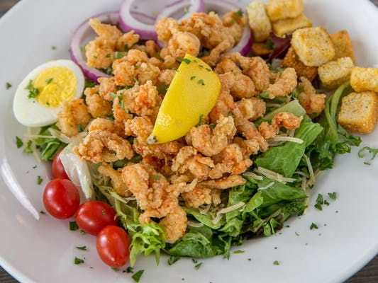Fried Crawfish Salad
