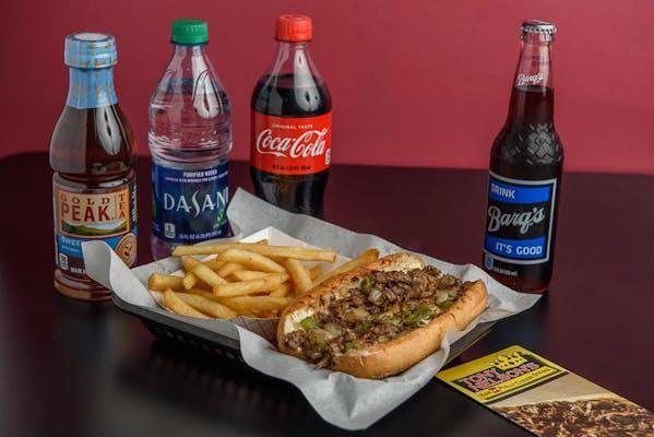 "(7"") Pepper Steak & Fries Coca-Cola Combo"