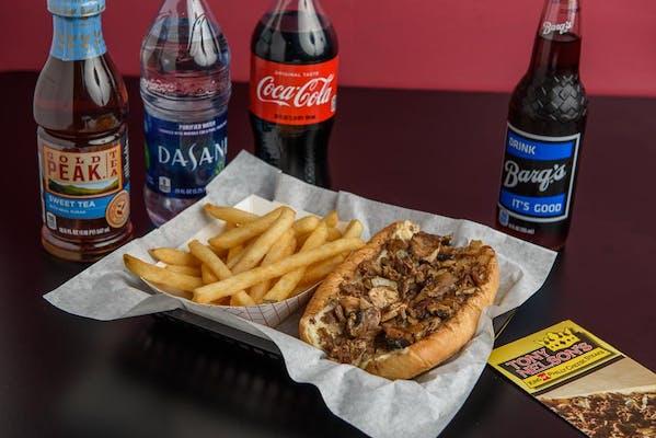 "(7"") Mushroom Steak & Fries Coca-Cola Combo"