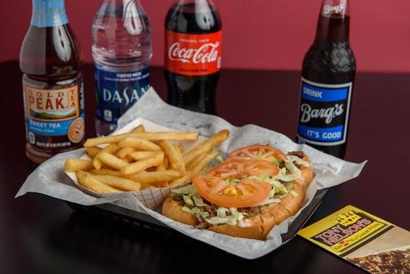 "(7"") Cheese Steak Hoagie & Fries Coca-Cola Combo"