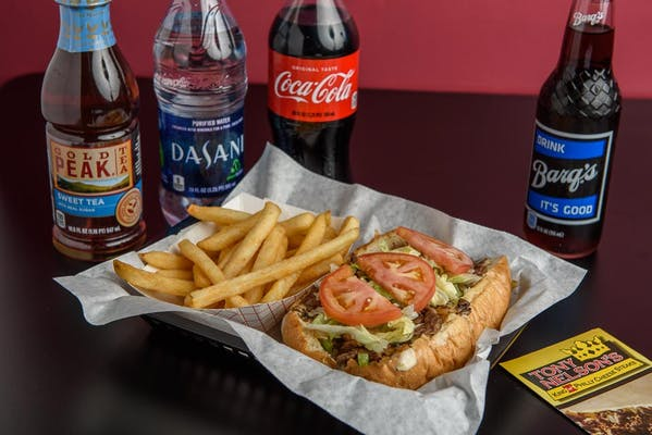 "(7"") Cheese Steak Deluxe & Fries Coca-Cola Combo"