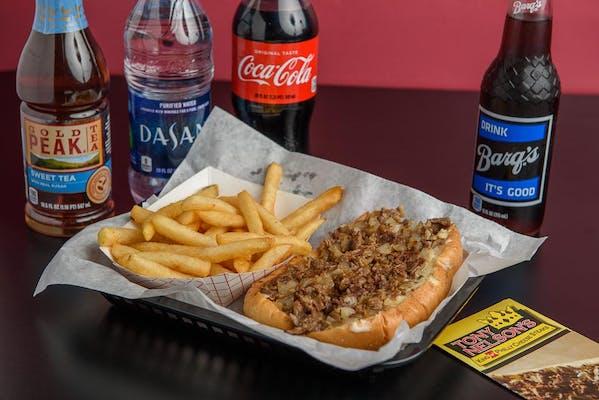 "(7"") Triple Cheese Steak & Fries Coca-Cola Combo"