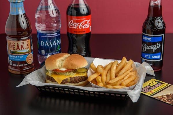 (½ lb.) Cheeseburger & Fries Coca-Cola Combo