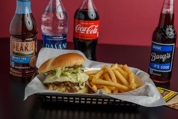 (½ lb.) Philly Burger & Fries Coca-Cola Combo