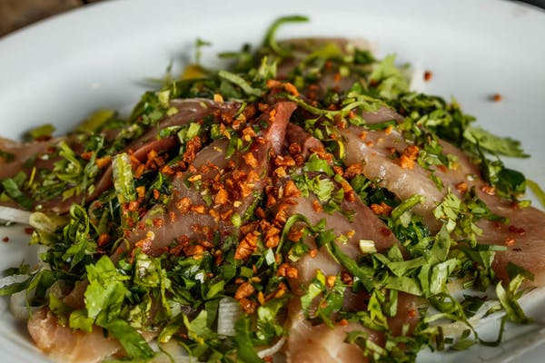 Garlic Hamachi Sashimi