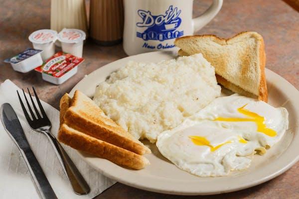 B1. (2) Eggs, Grits & Toast