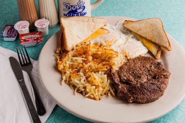 B8. Ribeye Steak & Eggs