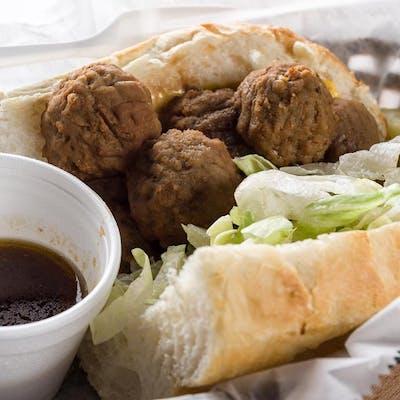 Brown Gravy Meatball Po-Boy