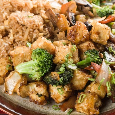Deep-Fried Tofu Vegetable Hibachi