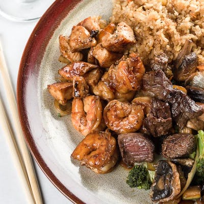 Steak, Shrimp & Chicken Hibachi
