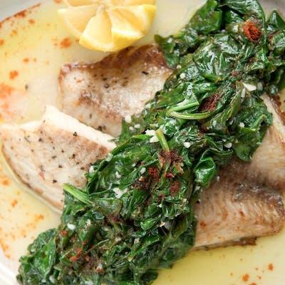 Spinach Garlic Fish