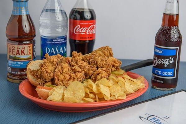 Oyster Po-Boy Coca-Cola Combo