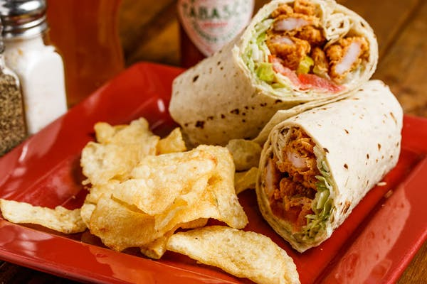 Fried Shrimp Wrap