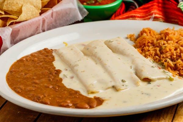Enchiladas White Queso