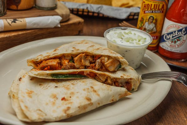 Red Chile Chicken Quesadilla