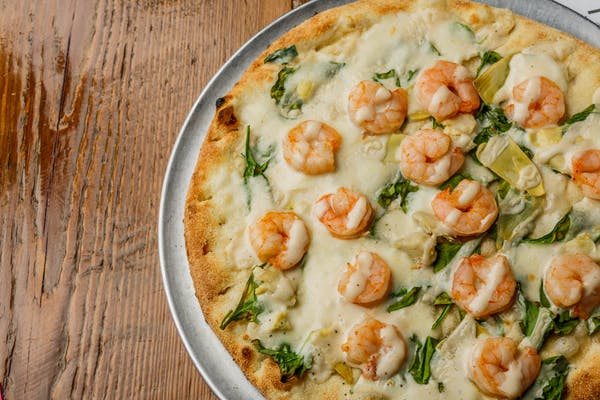 Shrimpin' Ain't Easy Specialty Pizza