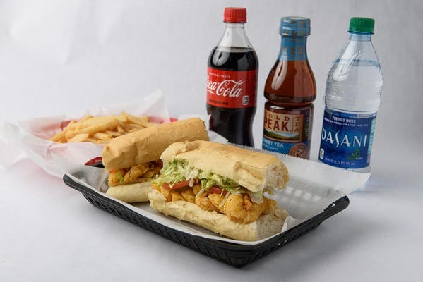 Whole Shrimp Po-Boy Coca- Cola Combo