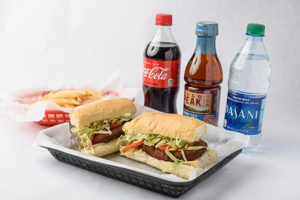 Whole Stuffed Crab Po-Boy Coca-Cola Combo