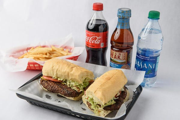Whole Hamburger Po-Boy Coca-Cola Combo