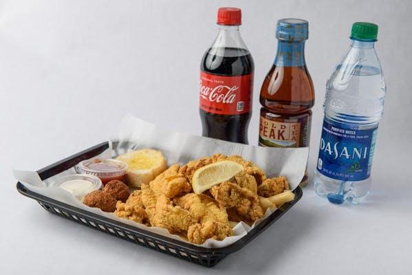Oyster & Catfish Platter Coca-Cola Combo