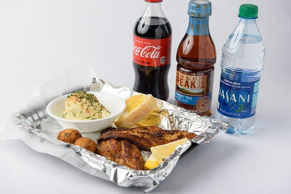 Blackened Catfish Plate Coca-Cola Combo