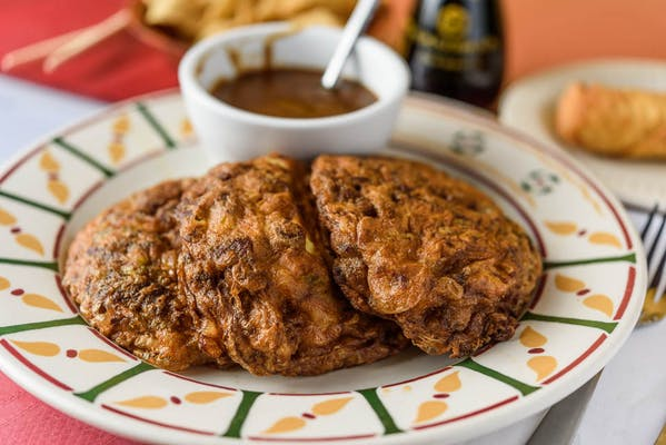 S9. Roast Pork Egg Foo Young Combination Plate