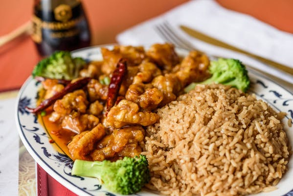 S17. General Tso's Chicken Combination Plate