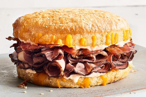 Beef Bacon Smokecheesy Sandwich