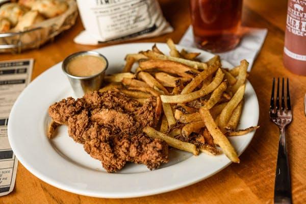 Fried Chicken Tenders Plate Meal
