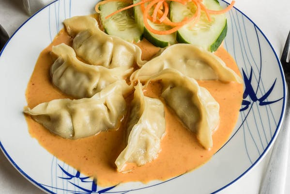 Pot Stickers with Red Curry