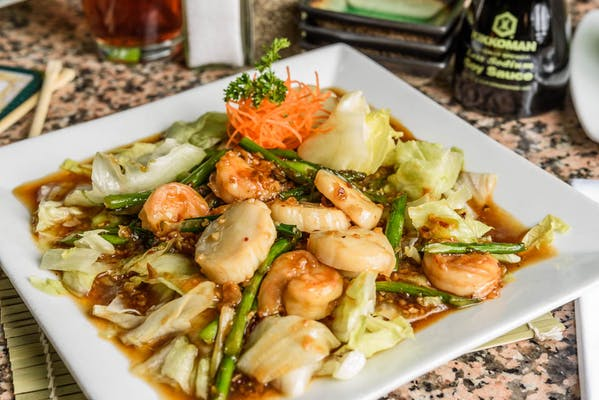 Roasted Garlic Shrimp & Scallops