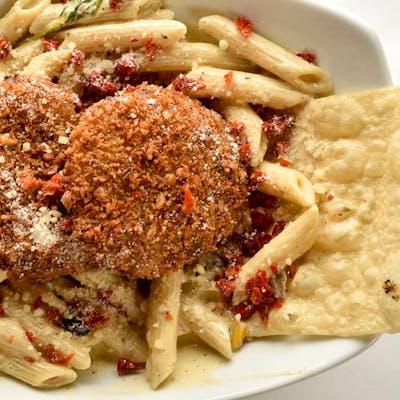 Crab Cake Pasta (Lunch)