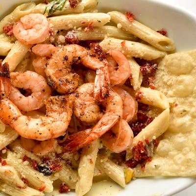Southwest Shrimp Pesto Pasta (Lunch)