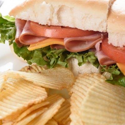 Hickory-Smoked Ham Sandwich