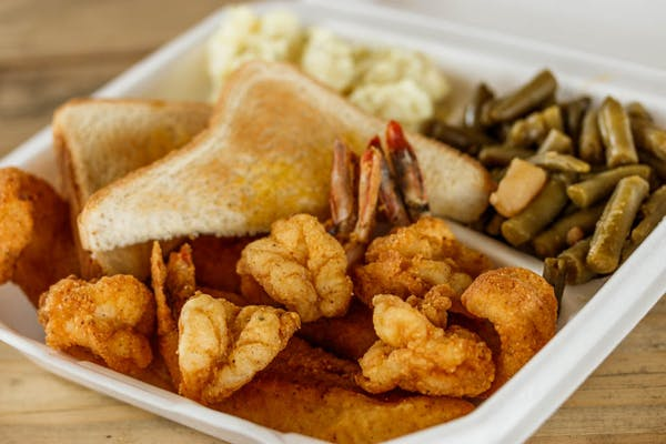 Fried Fish & Shrimp Combo Dinner