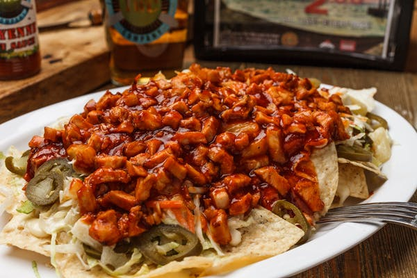 Hawaiian BBQ Chicken Nachos