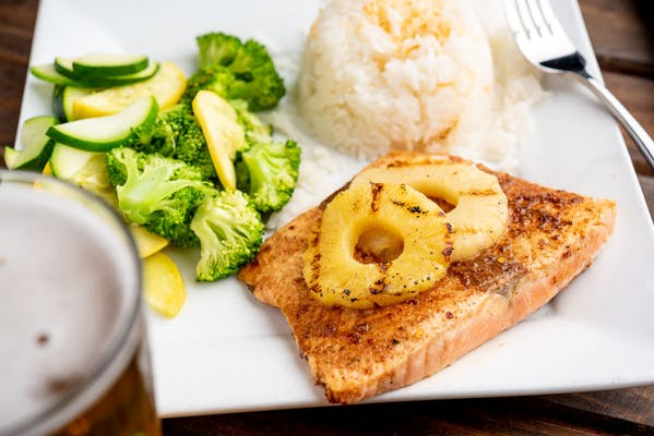 Caribbean Grilled Salmon