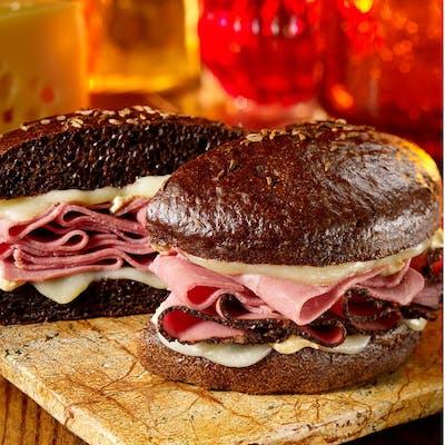 Angus Pastrami & Swiss Sandwich