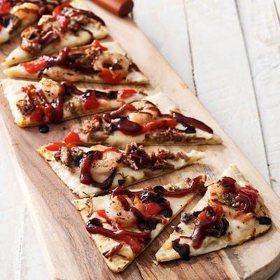 Italian Shrimp & Brisket Flatbread