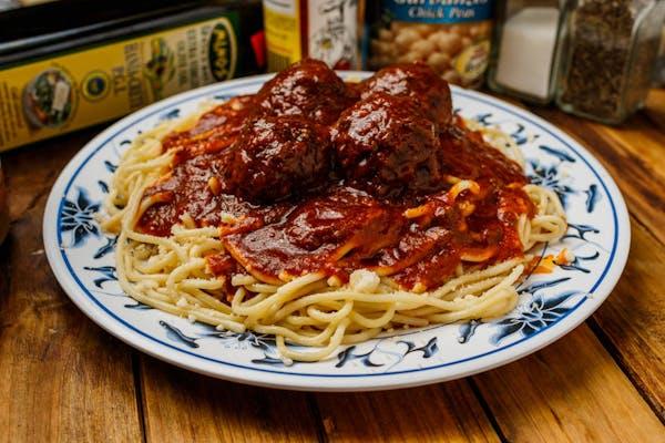 Linguine Pasta & Meatballs