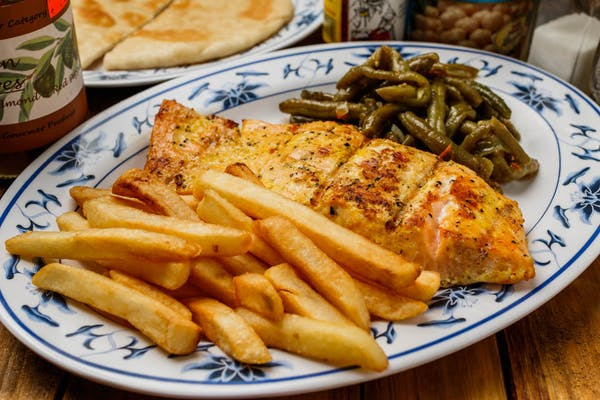 Grilled Pink Salmon or Tilapia