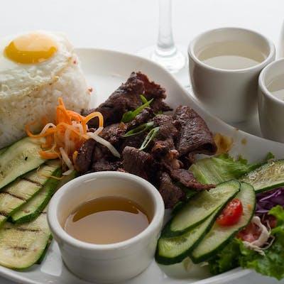 Sliced Beef Sirloin Rice Plate