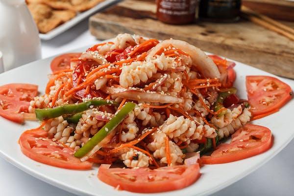 S10. Spicy Sesame Squid Salad