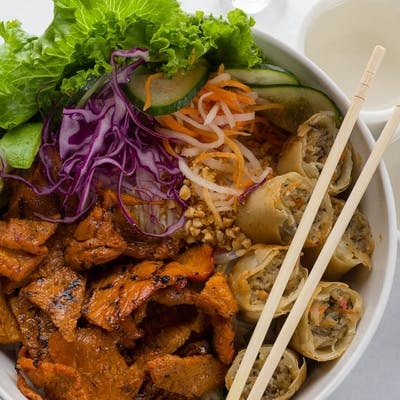 Grilled Marinated Pork & Vermicelli Noodles